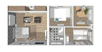 Plan 3D maison clamart